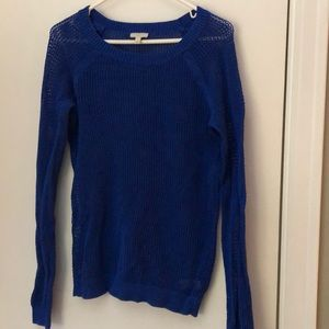 Talbots Blue Mesh Sweater Size Small
